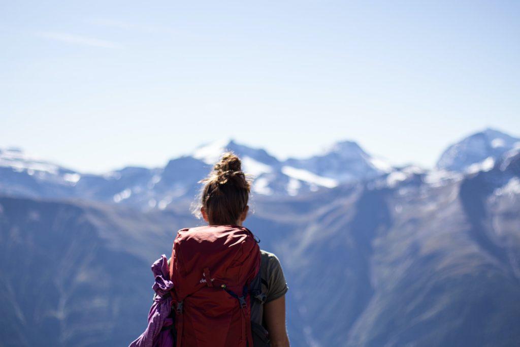 Praktischer Rucksack für Yoga-Reise