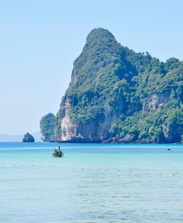Ankunft in Thailand