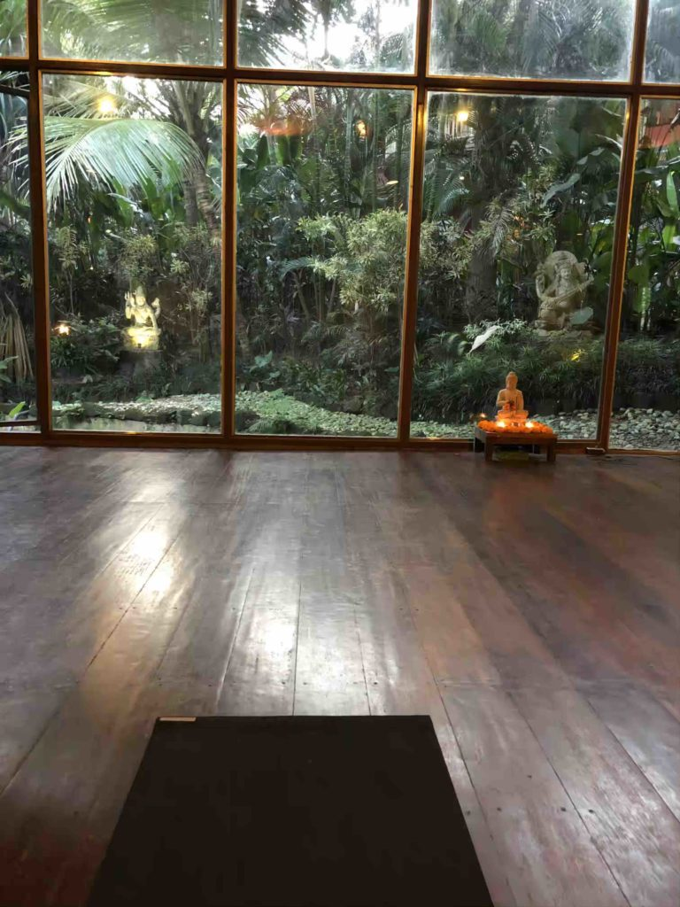 Yogamatte in Yogastudio