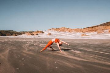 Yogalehrerin nach Yoga-Ausbildung